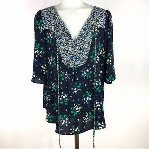 Ann Taylor Small Floral Blouse